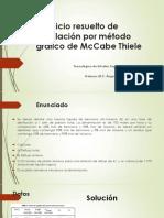 Ejercicio resuelto de Destilación por método gráfico de.pdf