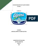 ARH DE ALPINA- GESTION DE TALENTO HUMANO