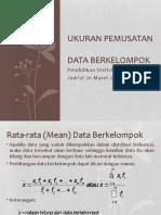 Ukuran Pemusatan Data Berkelompok