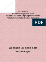 Statistik Wlcoxon Uji Beda Dua Mean Sampel Berpasangan