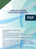 RECAPITULARE FORME DE VÂNZARE