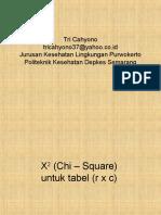 Statistik X2 (Chi Square) Tabel r x c & 2 x 2