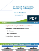 5G Transport Network Requirements, Architecture and Key Technologies