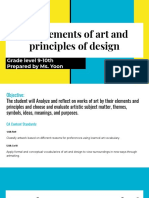 the elements of art and principles of design