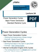 L24 - Rankine Cycle