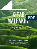Weekend Weekend PA Maleakhi