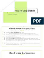 One Person Corporation (Philippines Revised Corporation Code)