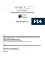 CIA-part 1 Exam Practice 2019 q and a 101