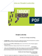 A Presentation on Thought Leadership