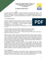 Regolamento didattico Master Icon 2014-2015
