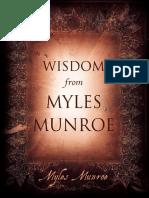 Wisdom From Myles Munroe