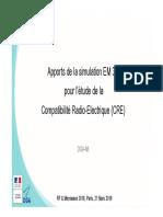 10h45 DGA-MI_Apports de La Simulation EM 3D Pour Létude de La Compatibilite Radio-Electrique_AFCEM_MWRF2018_def