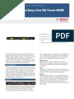 BOSCH Public address data sheet.