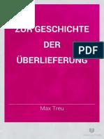 M. Treu, Zur Geschichte der Ueberlieferung Plutarch's Moralia III, Breslau 1884