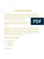 d58bcDifference Between Ethics and Values.docx