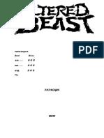 Altered Beast Ficha