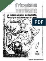 Adi, Hakim (2013) - Panafricanismo y Comunismo