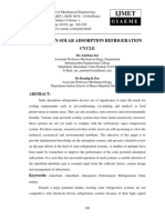 Review on Solar Adsorption Refrigeration