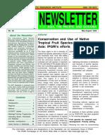 NEWSLETTER INTERNATIONAL PLANT GENETIC RESOURCES INSTITUTE