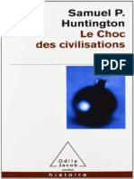 Le Choc DES Civilisations Par Huntington Samuel