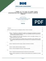 Real Decreto Ley 8/2020 de 17 de Marzo