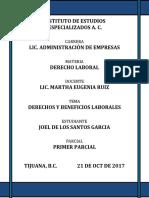 PROYECTO 1    DERECHOS Y BENEFICIOS LABORALES