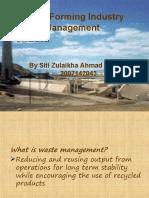 copper forming waste managemenr siti