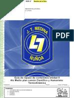 Guía Unidad Cero 4to medio Química (termodinamica)
