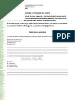 Guía Unidad Cero 2do medio Química (reacciones químicas)