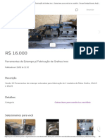 Ferramentas de Estampo p_ Fabricação de Grelhas Inox - Outros itens para comércio e escritório - Parque Rodrigo Barreto, Arujá 718338866 _ OLX
