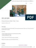 Prensas Excêntricas 25ton+ 15ton + 12ton - Equipamentos e mobiliário - Parque Rodrigo Barreto, Arujá 718453830 _ OLX