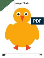 2D Shape Chick Cutting Skills Worksheets