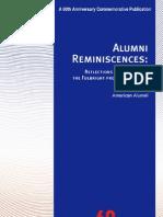 Alumni Reminiscences
