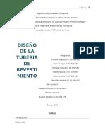 DISEÑO DE  TUBERIAs DE REVESTIMIENTO
