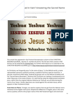 equip.org-Is Jesus Name Used in Vain Answering the Sacred Name Movement