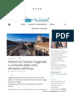 leggende di Catania
