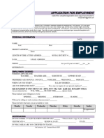 employment application-new form
