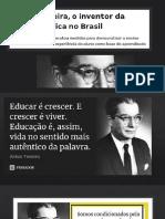 PPT-PROJETO SOBRE ANÍSIO TEIXEIRA-ENSINO MÉDIO