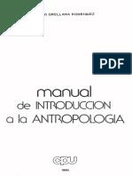 1. Orellana (1990). Intro a la Antropología. Cap 1 y 2.