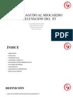 INFARTO AGUDO AL MIOCARDIO CON ELEVACIÓN DEL  ST