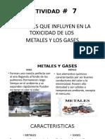 EFECTOS QUE INFLUYEN EN LA TOXICIDAD DE LOS METALES Y LOS GASES