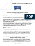 ISO 9001, efficacité ou efficience