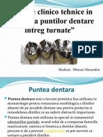 Etapele Clinico Tehnice in Realizarea Puntilor Dentare Intreg Turnate