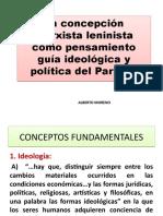 ALBERTO MORENO, MARXISMO LENINISMO COMO GUÍA PARA LA ACCIÓN REVOLUCIONARIA