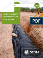 Senar - Construções rurais - Barragem subterrânea com lona plástica