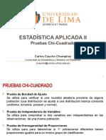 ULIMA - Estadística Aplicada II - 2015-2 Pruebas Chi-Cuadrado.pptx