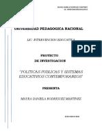 POLÍTICAS PUBLICAS Y SISTEMAS EDUCATIVOS CONTEMPORÁNEOS