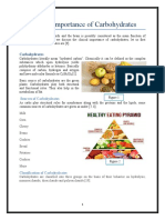 Clinical Importance of Carbohydrates
