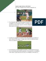 reglas del beisbol
