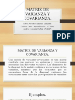 MATRIZ DE VARIANZA Y COVARIANZA